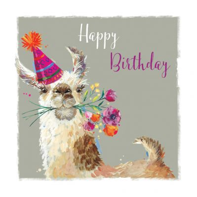 Birthday Card - Llama Fiesta - The Wildlife Ling Design