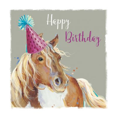 Birthday Card - Pony Horse - The Wildlife Ling Design