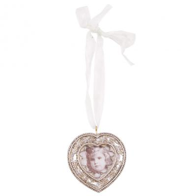 Hanging Silver Heart Photo Frame