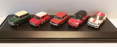 Mini Car 5 Piece Set - Diecast Model 1:76 Scale Gauge 00 - Oxford