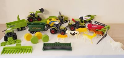 Farm Tractor Playset - 23 Items - Diecast Combine Truck Animals
