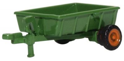 Farm Trailer Green Diecast Model 1:76 Scale OO Gauge - Oxford Commercials