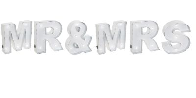 Mr & Mrs Wedding LED Light - Wall Mounted