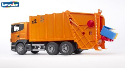 Scania R-Series Garbage Truck Dust Cart - Bruder 03560 Scale 1:16