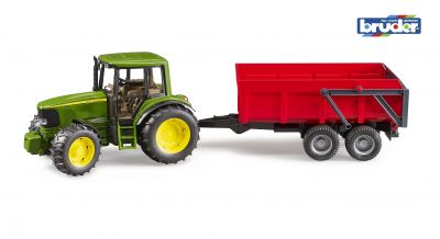 John Deere 6920 Tractor with Tipping Trailer - Bruder 02057 - Scale 1:16