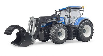 New Holland Tractor T7.315 & Front Loader - Bruder 03121 Scale 1:16