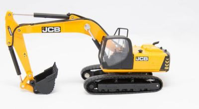 JCB JS220 Tracked Excavator Diecast Model 1:76 Scale - Oxford Construction