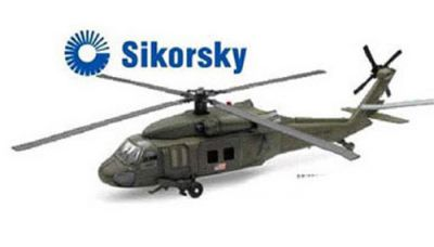 Black Hawk UH-60 Helicopter 1:60 Die Cast Scale Model