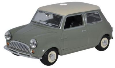Classic Mini Car Diecast Model 1:43 Scale - Tweed Grey - Oxford Automobile