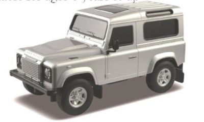 Land Rover Defender Silver Remote Control Car Scale 1:24