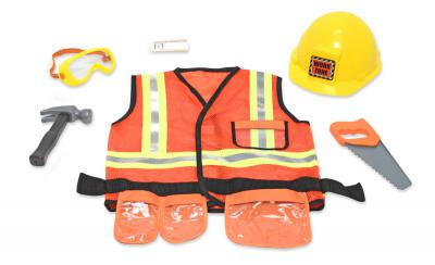 Melissa & Doug Construction Worker Fancy Dress Outfit