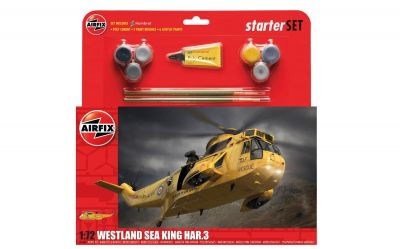Westland Sea King HAR.3 Helicopter - Scale 1:72 Model Kit Large Starter Set - Airfix - A55307