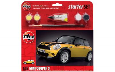 Mini Cooper S Car - Scale 1:32 Model Kit Large Starter Set - Airfix - A55310