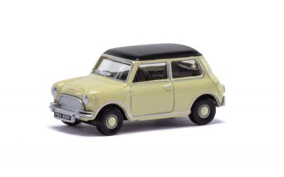 Classic Mini Cooper Diecast Car - Cream - Scale Autos Hornby - Scale 1:76 R7151