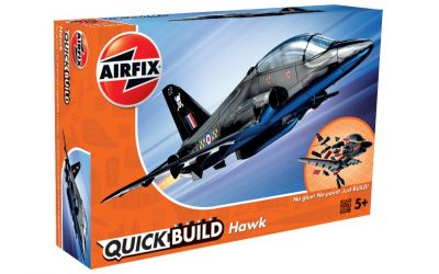 BAE Hawk Aeroplane - Model Kit - 26 Pieces Airfix Quickbuild - J6003