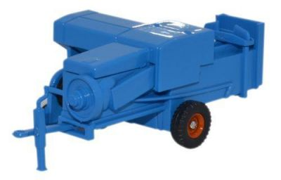 Farm Baler Blue Diecast Model 1:76 Scale OO Gauge - Oxford Commercials