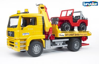 MAN TGA Breakdown Truck & Jeep - Bruder 02750 Scale 1:16