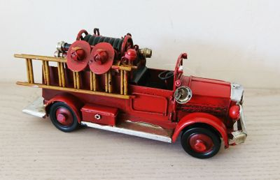Vintage Fire Truck Model - Decorative