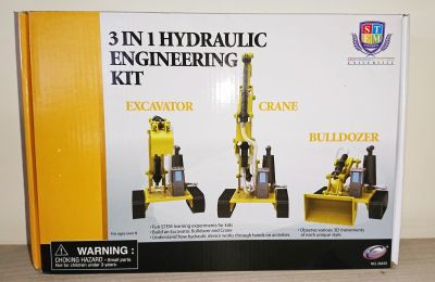 Engineering Hydraulic Model Kit - Bulldozer, Crane, Excavator