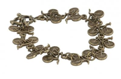 Teenagers Bracelet Antique Gold Bicycle