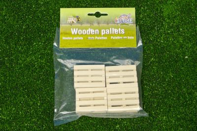 Wooden Pallets Farm - Set of 8 - Scale 1:32 - Kids Globe V050761