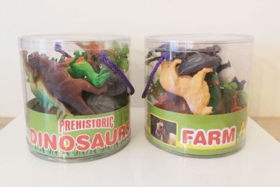 Farm Dinosaur Playsets in a Tub - 20 Pieces