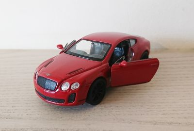 Bentley Continental Supersports Red Burgundy Die Cast Scale Model Car 1:38