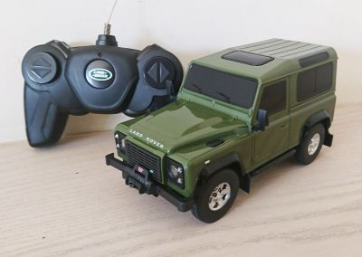 Land Rover Defender Green Remote Control Car Scale 1:24