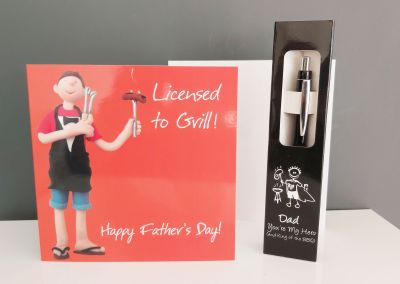 Father's Day Card & Pen Gift - Licensed to Grill King of the BBQ
