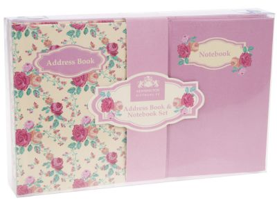 Address Book & Notebook Gift Set - Floral