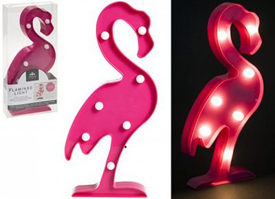 Flamingo Pink LED Battery Light