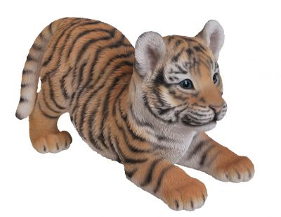 Tiger Cub Playful Zoo - Lifelike Garden Ornament - Indoor or Outdoor - Real Life