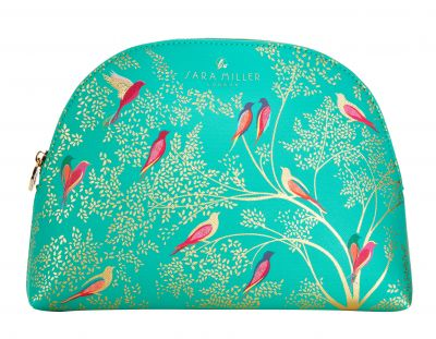 Sara Miller - Large Cosmetic Make Up Wash Bag - Green Bird
