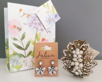 Stylish Bracelet & Earring Gift Set - Diamante - Free Gift Bag