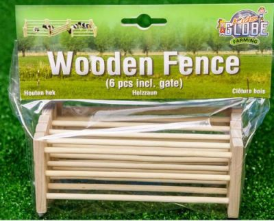Wooden Fence & Gate Field Farm - Scale 1:24 - Kids Globe V050102