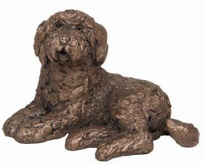 Labradoodle Dog Cold Cast Bronze Small Ornament - Koko - Frith Sculpture