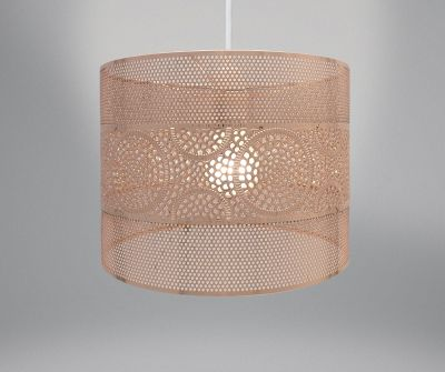 Lampshade - Rose Gold Copper Metal Circle Design