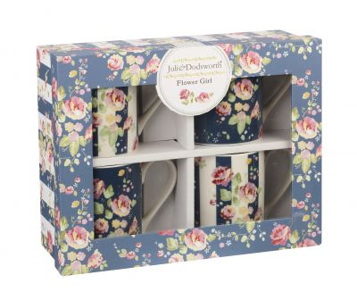 Flower Girl Floral - Julie Dodsworth Fine China Mug Gift Set