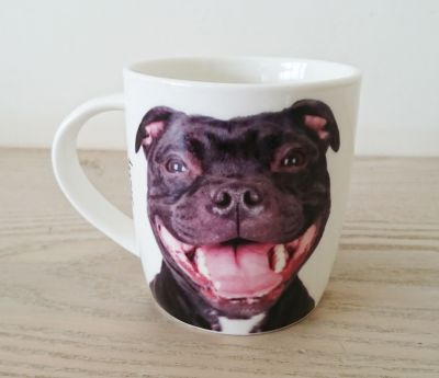 Staffy Staffordshire Bull Terrier Dog or Puppy Mug - Dog Lovers Gift - 2 Designs