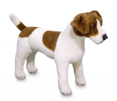 Lifelike Jack Russell Dog Plush Soft Toy - Melissa & Doug