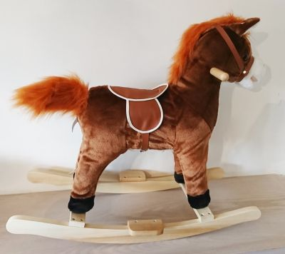 Brown Rocking Horse - Sounds & Music - Swishes Tail