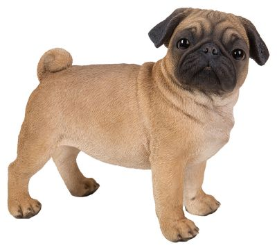 Pug Dog - Standing Lifelike Garden Ornament - Indoor or Outdoor - Real Life