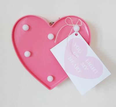 'You Light Up My Heart' Wall Hanging LED Light Decoration Valentine Love