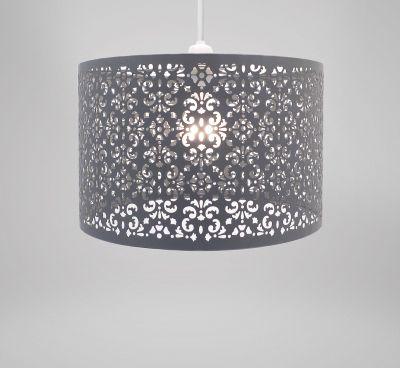 Lampshade - Dark Grey Metal Marrakech
