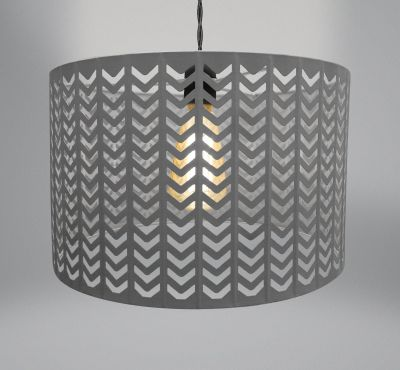 Lampshade - Dark Grey Metal - Chevron