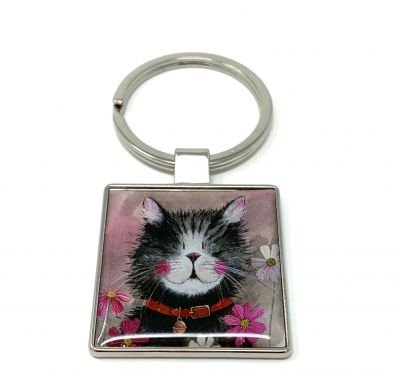 Whiskers Cat Key Ring - Alex Clark
