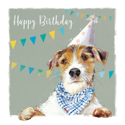 Birthday Card - Terrier Dog - The Wildlife Ling Design