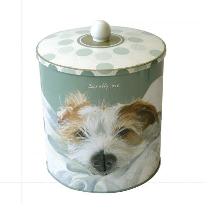 Scruffy Love Wire Hair Jack Russell Biscuit Tin - The Little Dog