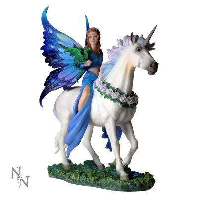 Realm of Enchantment Unicorn Fairy Figurine Anne Stokes