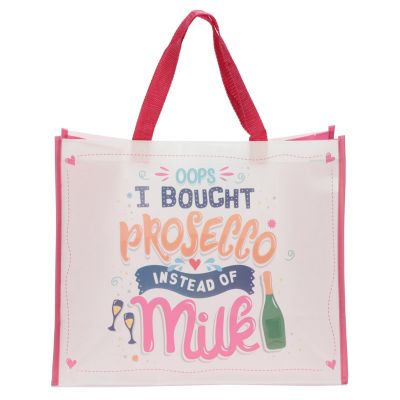 Prosecco Design Reusable Shopping Bag - Oops I bought prosecco instead of milk